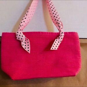 New Talbots Pink Cloth Pocketbook Ribbon Straps